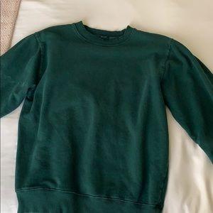 J.Galt green neck sweat shirt